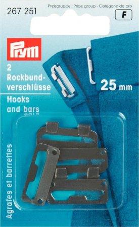 Prym Rockbundverschlüsse ST 25 mm schwarz