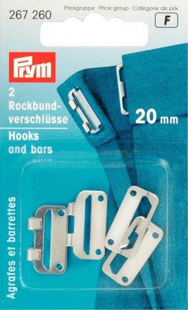 Prym Rockbundverschlüsse ST 20 mm silberfarbig