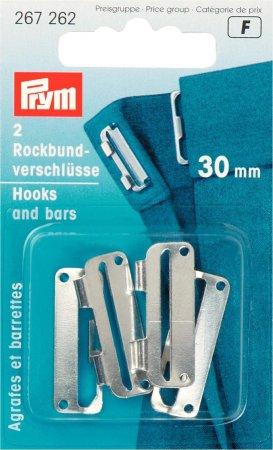 Prym Rockbundverschlüsse ST 30 mm silberfarbig