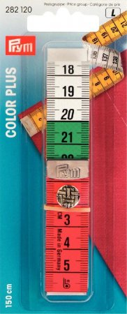 Prym Massband Color Plus mit Knopf 150 cm / cm