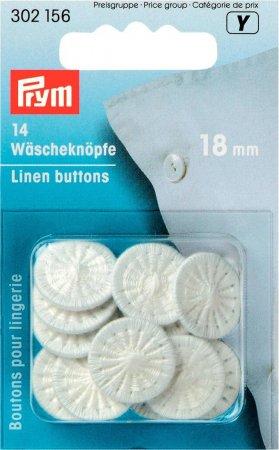 Prym Wäscheknöpfe Zwirn 28 18 mm weiss
