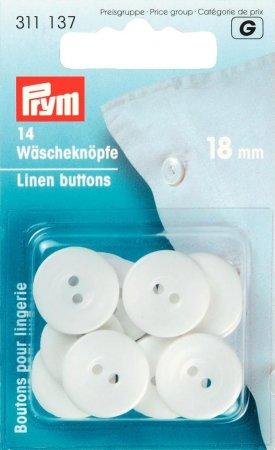 Prym Wäscheknöpfe Kunststoff 28 18 mm weiss