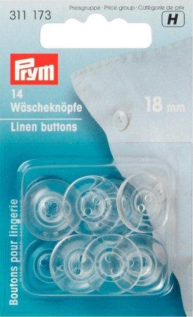 Prym Wäscheknöpfe Kunststoff 28 18 mm transparent