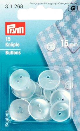 Prym Kittel-/Schlafanzugknöpfe KST 15 mm perlmutt