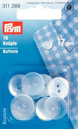 Prym Kittel-/Schlafanzugknöpfe KST 17 mm perlmutt