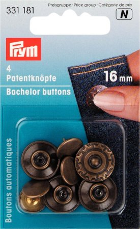 Prym Patentknöpfe Aura MS altmessing