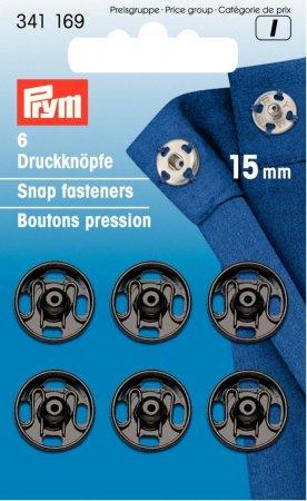 Prym Annäh-Druckknöpfe MS 15 mm schwarz