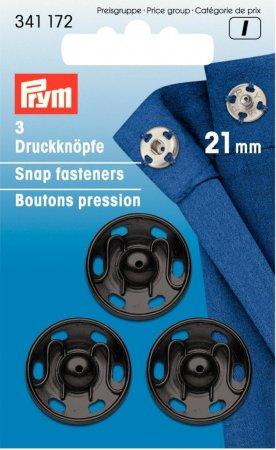 Prym Annäh-Druckknöpfe MS 21 mm schwarz