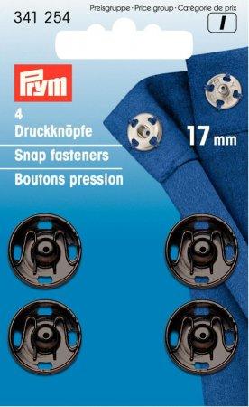 Prym Annäh-Druckknöpfe MS 17 mm schwarz