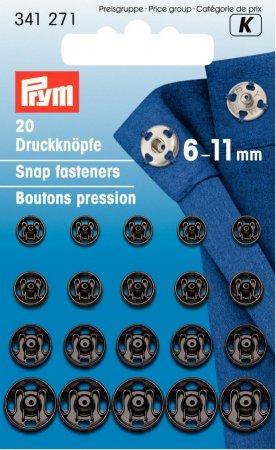 Prym Annäh-Druckknöpfe MS 6-11 mm schwarz