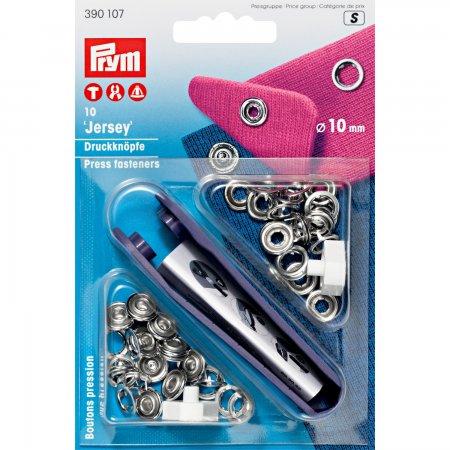 Prym NF-Druckknopf Jersey Zackenring MS 10 mm silberfarbig