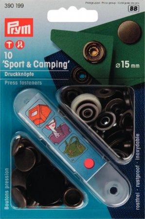 Prym NF-Druckknopf Sport & Camping MS 15 mm altmessing