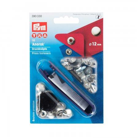 Prym NF-Druckknopf Anorak MS 12 mm silberfarbig