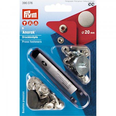 Prym NF-Druckknopf Anorak flach MS 20 mm alteisen