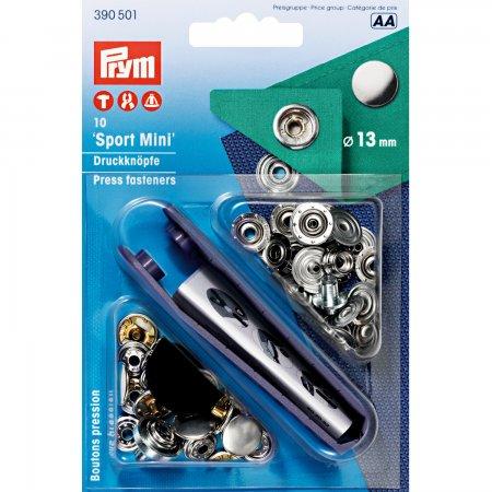 Prym NF-Druckknopf Sport Mini MS 13 mm silberfarbig