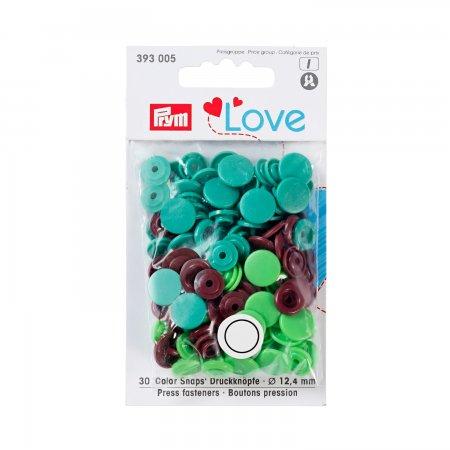 Prym Love Color Snaps 12,4mm grün/hellgrün/braun Mischpackung