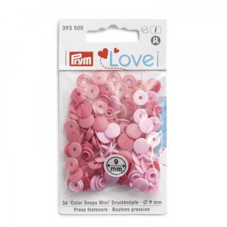 Prym Prym Love Color Snaps Mini Mischpackung rosa