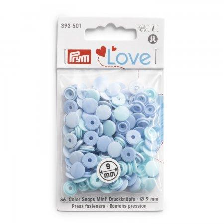 Prym Prym Love Color Snaps Mini Mischpackung hellblau