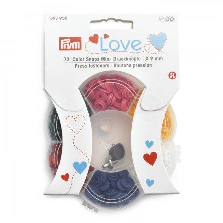 Prym Prym Love Color Snaps Mini 6 Farben + Werkzeugset