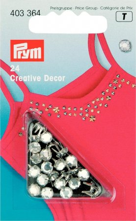 Prym Creativ Decor Strass MS 5 mm silberfarbig