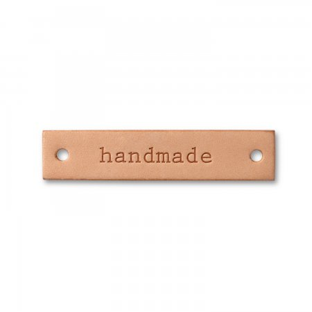 Prym Label Leder handmade natur rechteckig