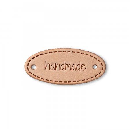 Prym Label Leder handmade natur oval
