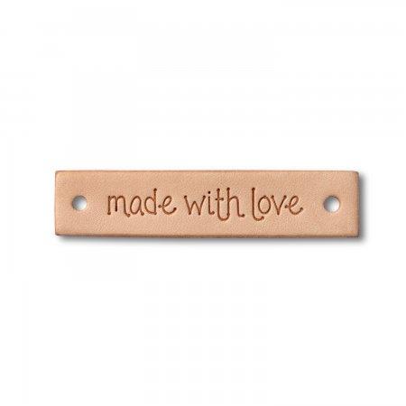 Prym Label Leder made with love rechteckig
