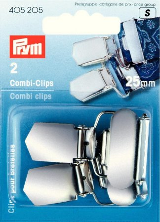 Prym Combi-Clips ST 25 mm silberfarbig