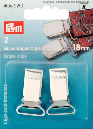 Prym Hosenträger-Clips ST 18 mm silberfarbig
