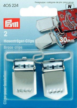 Prym Hosenträger-Clips ST 30 mm silberfarbig