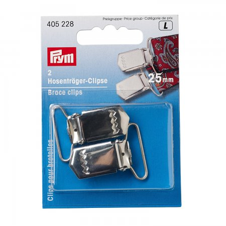 Prym Hosenträger-Clips ST 25 mm silberfarbig