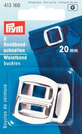 Prym Rundbundschnallen ST 20 mm silberfarbig