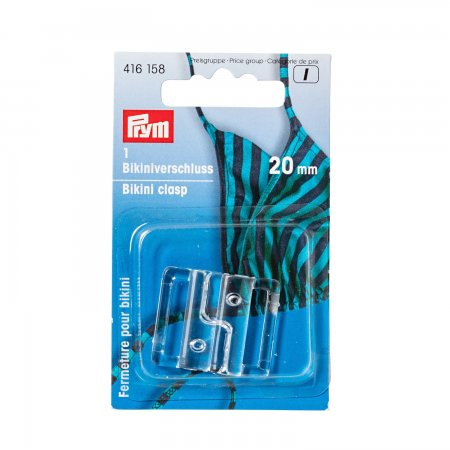 Prym Bikini- und Gürtelverschluss KST 20 mm transparent