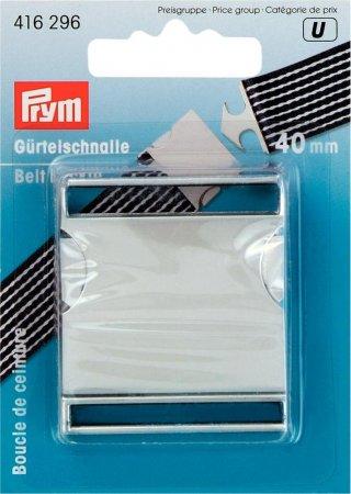 Prym Gürtelschnalle 40 mm silberfarbig matt