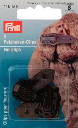 Prym Pelzhaken-Clips braun