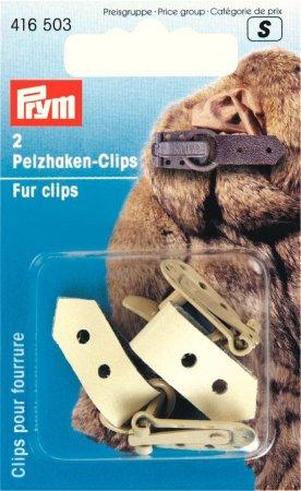 Prym Pelzhaken-Clips beige