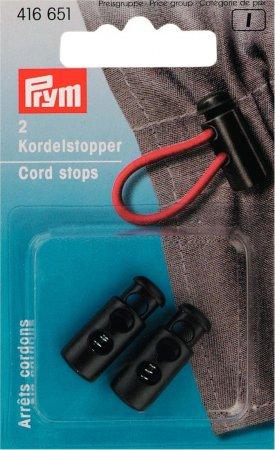 Prym Kordelstopper klein KST 2-Loch schwarz
