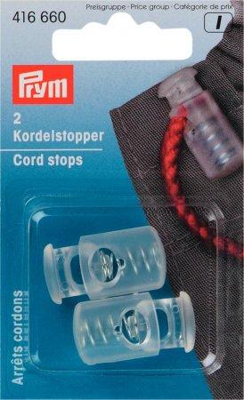 Prym Kordelstopper 1-Loch KST transparent