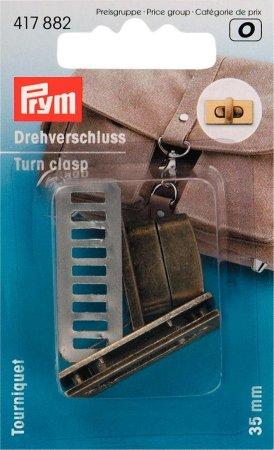 Prym Drehverschluss für Taschen altmessing gebürstet