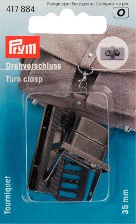 Prym Drehverschluss für Taschen altsilber gebürstet