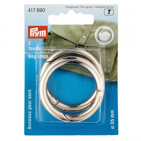Prym Taschenringe 35 mm silberfarbig