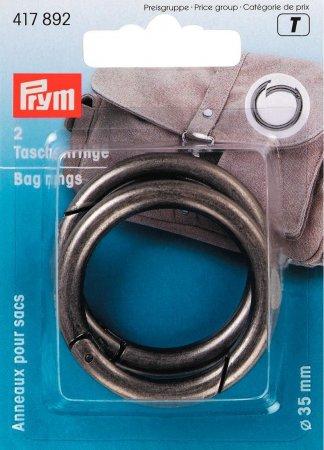 Prym Taschenringe 35 mm altsilber