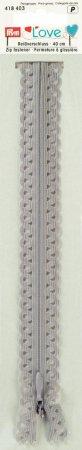 Prym Love Reissverschluss S11 Deko 40cm silbergrau