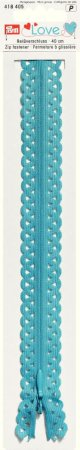 Prym Love Reissverschluss S11 Deko 40cm blautürkis