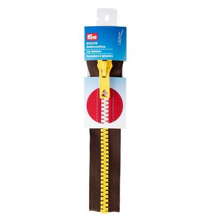 Prym RV S12 Bicolor teilbar 40 cm dunkelbraun / gelb
