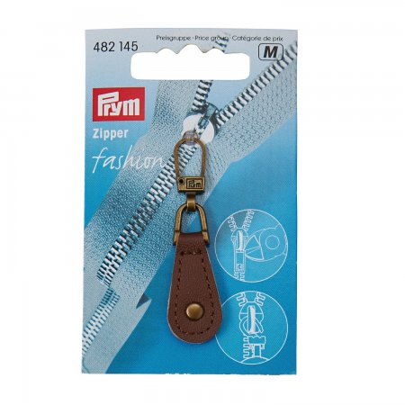 Prym Fashion-Zipper Leder braun