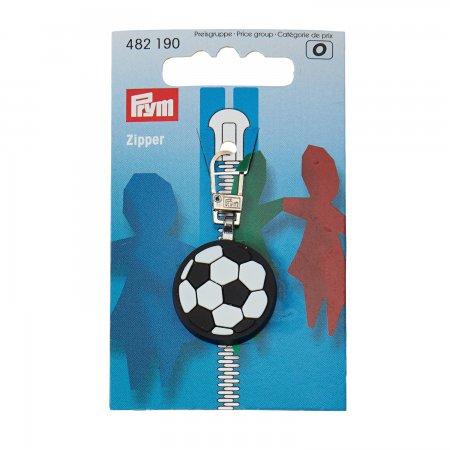 Prym Fashion-Zipper fuer Kinder Fussball schwarz/weiss