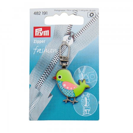 Prym Fashion-Zipper für Kinder Vogel grün/blau