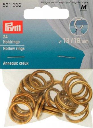 Prym Hohlringe MS 13/18 mm goldfarbig  NML