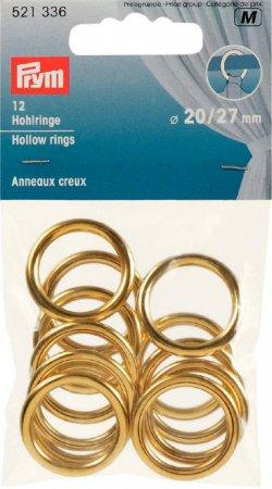 Prym Hohlringe MS 20/27 mm goldfarbig  NML